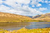 image of galway  - killary Harbour and Maumturks in County Galway in Connacht - JPG