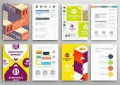 picture of geometric  - Set of Flyer - JPG