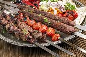 picture of kababs  - grilled kebab with koobideh - JPG