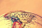 foto of atlas  - South America a printed  atlas world map - JPG