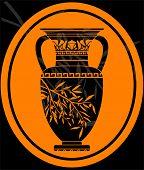 image of jug  - stencil of jug for olive oil - JPG