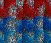 stock photo of lapis lazuli  - Red and blue lapis lazuli block grunge textured background - JPG