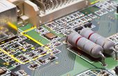 stock photo of microchips  - Electronic microcircuit and microchip  - JPG