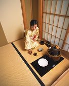 picture of japan girl  - Traditional tea ceremony in Japan with beauty asian girl - JPG