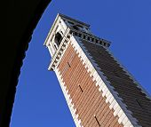 stock photo of vicenza  - Vicenza Italy Bell Tower in the sanctuary of the Madonna - JPG
