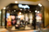 image of department store  - defocused blur department store with bokeh for background - JPG