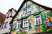 picture of fairy-tale  - Painted house in the fairy tale town Steinau an der Stra - JPG