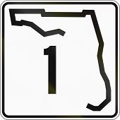 foto of state shapes  - US state highway shield Florida - JPG