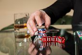 pic of poker hand  - Poker player - JPG