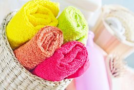 image of disinfection  - towels in basket - JPG