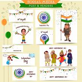 stock photo of indian independence day  - Social media ads - JPG