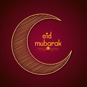 stock photo of crescent  - Beautiful creative crescent moon for famous festival of Muslim community - JPG
