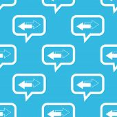 foto of opposites  - Image of two opposite arrows in chat bubble - JPG