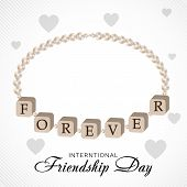 stock photo of friendship day  - illustration of a beautiful greeting for Friendship Day - JPG