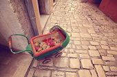 picture of buggy  - Capture of Buggy as decor object in street  - JPG