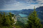 foto of annecy  - view of Lake Annecy in the French Alps - JPG