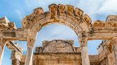 foto of apostolic  - A temple of emperor Hadrian on site of ancient Greek city of Ephesus on the western coast of Asia Minor - JPG
