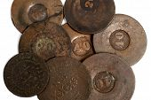 picture of depreciation  - Brazilian XIX century old coin Background  - JPG