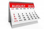 picture of august calendar  - 2015 year calendar - JPG