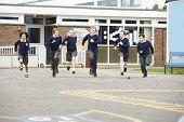 pic of playground school  - Group Of Elementary School Pupils Running In Playground - JPG