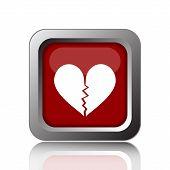 pic of heartbreak  - Broken heart icon - JPG