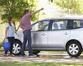 foto of car carrier  - Father And Teenage Daughter Washing Car Together - JPG