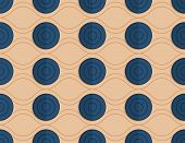 ������, ������: Retro Fold Blue Circles On Waves
