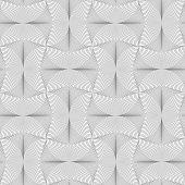 foto of semi-circle  - Gray seamless geometrical pattern - JPG