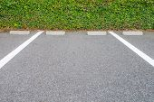 picture of parking lot  - Outdoor empty space at car parking lot - JPG