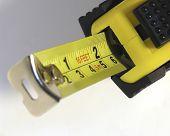 stock photo of tape-measure  - tape measure close up - JPG