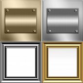 Metal Gold And Silver Frames Set