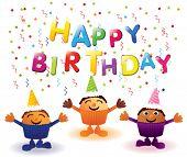 image of birthday-cake  - Happy Birthday cupcakes - JPG
