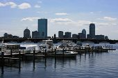 picture of prudential center  - Boats docked in Boston - JPG