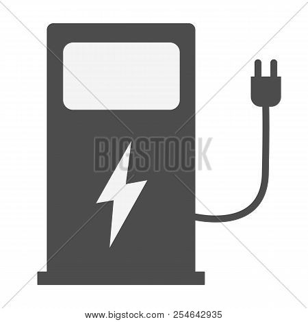 Electric Vehicle Charging Station On