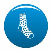 Cotton Sock Icon. Simple Illustration Of Cotton Sock Icon For Any Design Blue poster