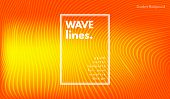 Movement Abstract. Wave Stripes. Geometric Template With Distorted Lines And Gradient. Flow Backgrou poster