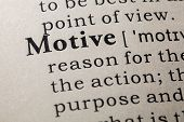 Definition Of Motive poster