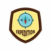 Expedition Logo. Flat Illustration Of Expedition Logo For Web Isolated On White poster