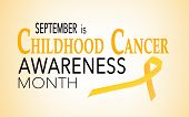September Is Childhood Cancer Awareness Month, Background With Ribbon poster