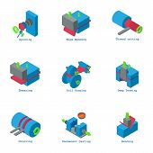 Creation Icons Set. Isometric Set Of 9 Creation Vector Icons For Web Isolated On White Background poster