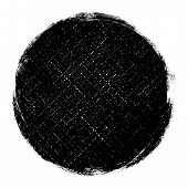Distressed Circle Stamp Vector Black Color Overlay Textures. Round Bold Grunge Distress Template Bac poster