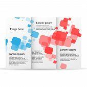Brochure Template Trifold Flyer Design Mockup. Leaflet Folder Blank Document Publication Business La poster