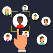 Outsource Management Illustration Development Business Corporate Teamwork Sign. Resources Manage Emp poster