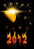 stock photo of doomsday  - Twelve symbols of the zodiac - JPG
