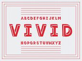 Vivid Handwritten Font.  Vector Alphabet Letters. Typeface Design. poster
