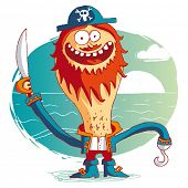 stock photo of saber-toothed  - Pirate  - JPG