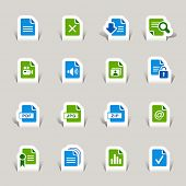 Paper cut - File format icons