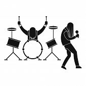 Rock Band Icon. Simple Illustration Of Rock Band Icon For Web Design Isolated On White Background poster