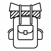 Tourist Backpack Icon. Outline Illustration Of Tourist Backpack Icon For Web poster