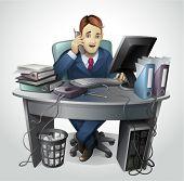 picture of clip-art staff  - Businessman  - JPG